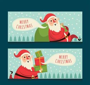 2款创意圣诞老人banner矢量素材