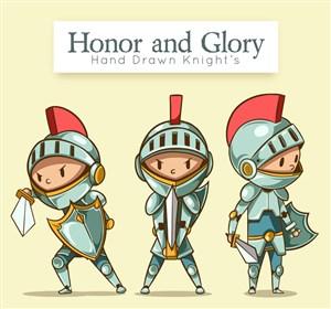 3款卡通騎士設計