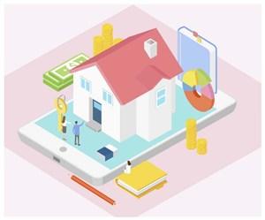 房屋销售立体矢量素材