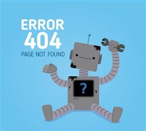 創意404錯誤頁面維修機器人矢量圖