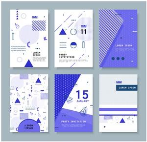 创意几何h5平面设计MBE风格banner广告海报背景矢量素材图