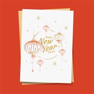2019年新年灯笼矢量素材春节新年传统节日矢量素材