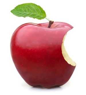 一個新鮮的蘋果圖片