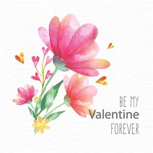 卡通花卉矢量春季清新花卉矢量素材结婚伴手礼花卉素材情人节装饰素材