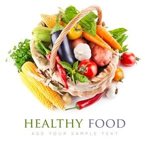 籃子里的蔬菜高清圖片