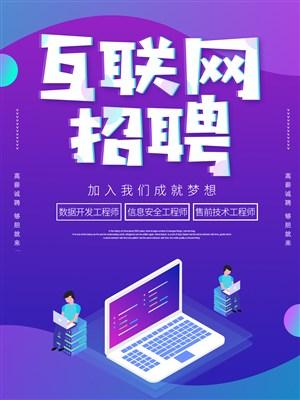 互联网招聘海报