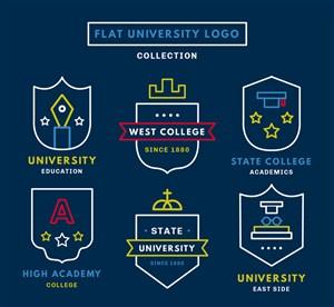 6款創意大學標志矢量素材
