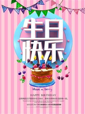 生日快樂海報