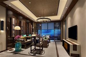 这款新中式风格客厅装修效果图美翻了