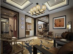 一股独特的东方韵味新中式风格客厅装修效果图