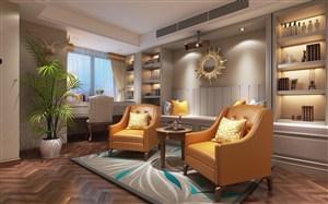 法式风格娱乐茶室装修效果图
