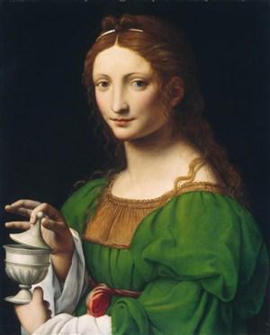 達芬奇作品人物肖像油畫圖片