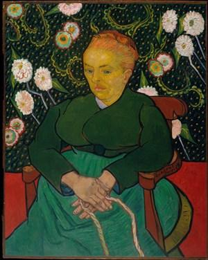 梵高奧古斯丁魯蘭的搖籃曲人物肖像油畫圖片