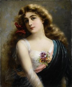 女性人物歐洲宮廷油畫圖片