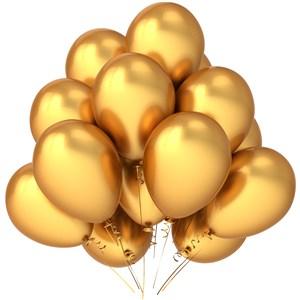 一束金色闪亮的气球高清图片