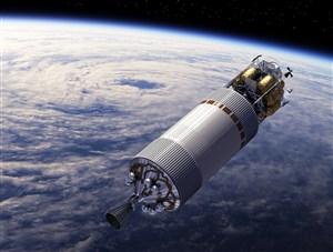 在太空的飞行器高清摄影图片