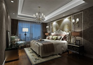 欧式风格卧室样板间