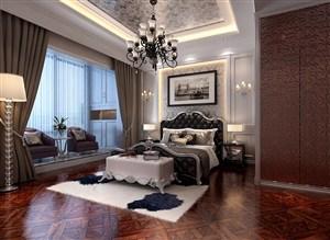 欧式风格卧室组合柜装修效果图