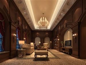3K高清欧式风格客厅效果图