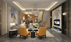 3K高清个性客厅装修效果图