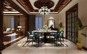 中式风格家装餐厅设计效果图