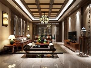中式家装客厅设计效果图
