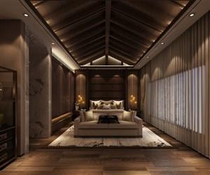 高大气派新中式风格主卧室装修效果图