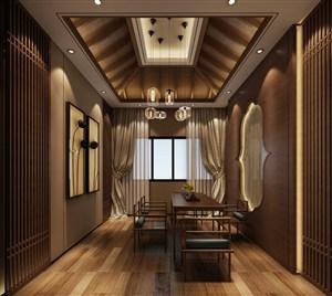 新中式家庭茶室装修效果图