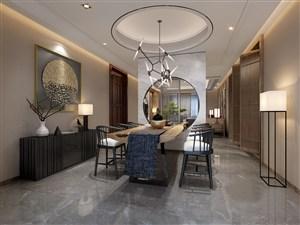 新中式家庭茶室布置图片欣赏