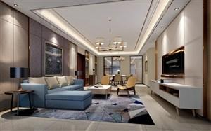 現代風格客廳背景墻裝修效果圖