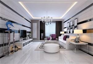 現代風格個性客廳背景墻裝修效果圖