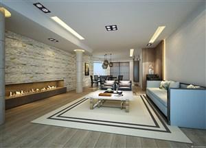 現代風格硅藻泥客廳背景墻裝修效果圖