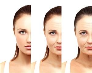 從左到右美女肌膚衰老過程圖片