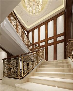 歐式風格別墅樓梯裝修效果圖
