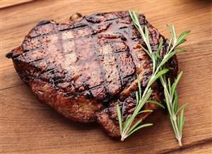 新鲜熟牛排美食特写海报专用素材图片