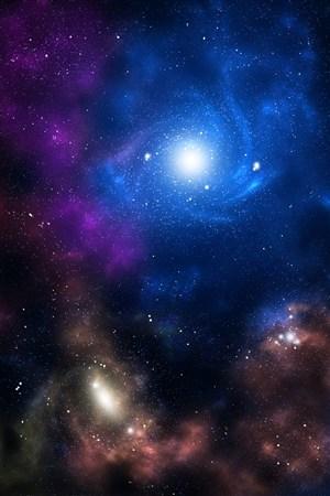 藍色星際海洋背景豎圖