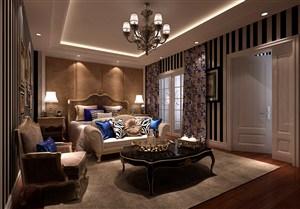 欧式风格卧室背景墙装修效果图