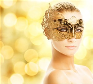 戴面具的烏克蘭美女圖片