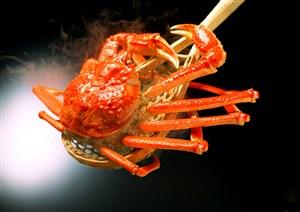 大勺子上的大閘蟹