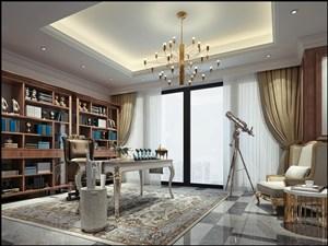 歐式風格書房裝修圖片