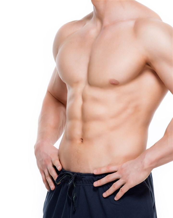 白皮肤肌肉男健美图片