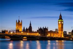 欧洲英国伦敦大本钟夜景风景图片