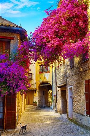 欧洲美丽小镇风景图片
