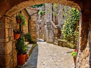 高清欧洲浪漫小镇风景图片