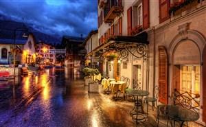 高清唯美浪漫欧洲夜晚街景图片
