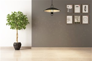 簡約居家背景墻壁木質地板