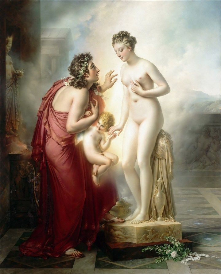 世界名畫美女人體油畫圖片