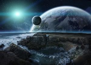 炫酷宇宙背景素材高清图片