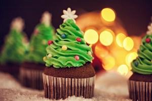 美味诱人的圣诞树点心美食高清