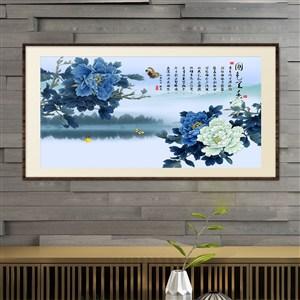 國色天香-工筆手繪國畫花卉裝飾畫